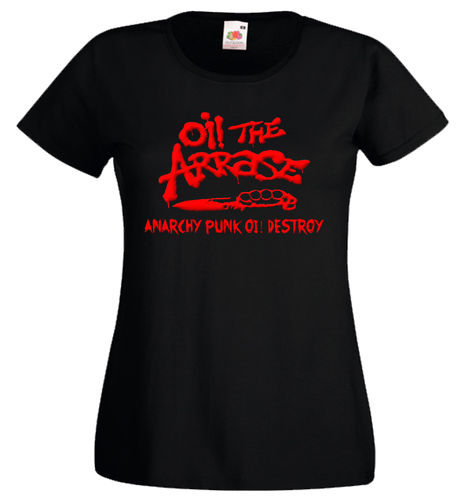 Camiseta mujer Oi! the arrase, Anarchy...