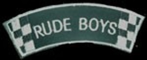 Parche bordado Rude boys